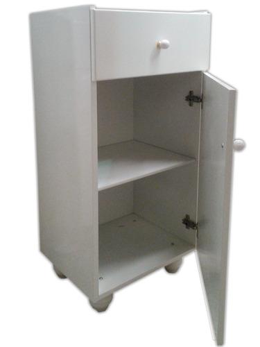 mini tolva laqueada blanca 0.86x0.30 y 0.40!!! mueble baño