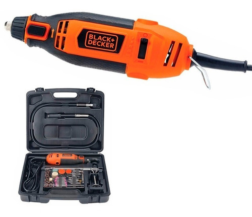 mini torno black decker minitorno rt18ka + 113 pzs +maletin