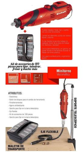 mini torno einhell minitorno 189 accesorios +soporte+eje fle