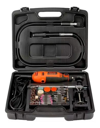 mini torno manual black & decker rt18ka-ar + kit 113 piezas