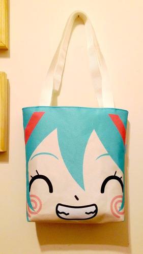 mini tote bag cartera de anime vocaloid miku hatsune