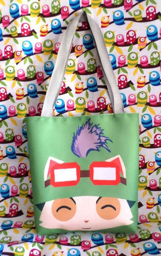 mini tote bag cartera de league of legends teemo