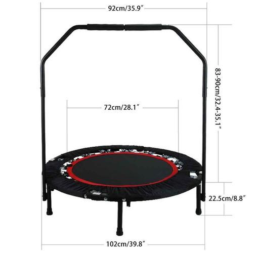 mini trampolin brincolin 40 pulgadas con barandilla ajustabl