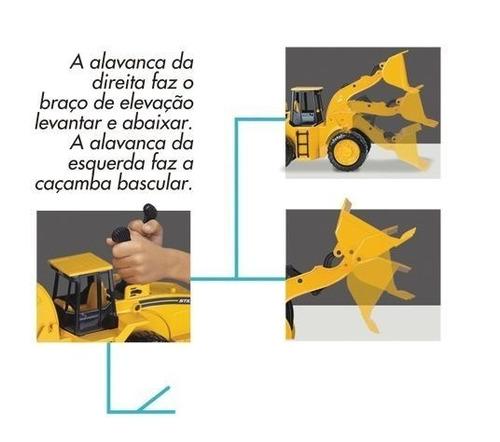 mini trator infantil carregadeira still - roma brinquedos
