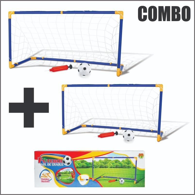 000b30f45578a mini trave gol futebol infantil 2 unidades 2 bolas 2 bombas. Carregando  zoom.