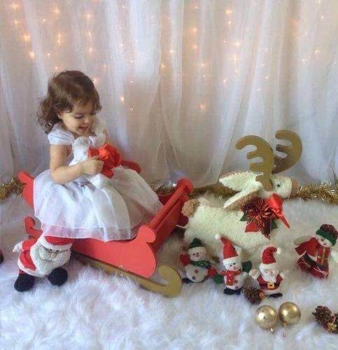 mini trenô com rena - props newborn - acessorios fotografia