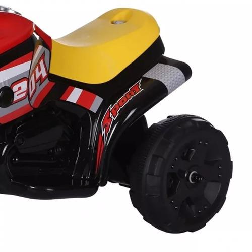 mini triciclo moto elétrica infantil luz som bel fix 913500