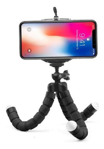 mini tripé flexível ajustável suporte celular gopro cameras