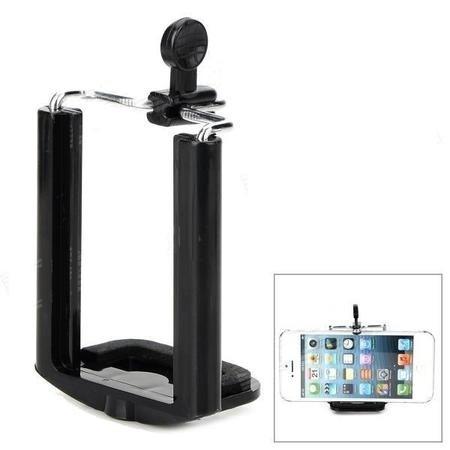 mini tripe universal ajustável celulares iphone/galaxy -novo