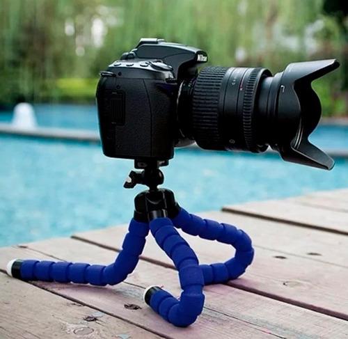 mini tripie flexible gorila + soporte celulares y cámaras