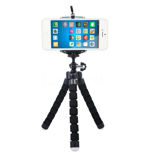 mini trípode flexible con soporte para cámaras y celulares