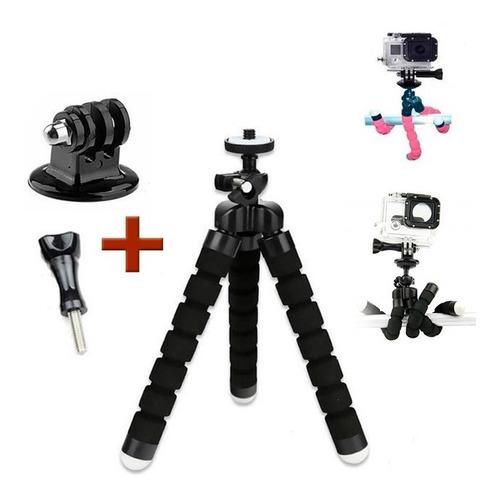 mini trípode flexible para cámaras de acción gopro / sjcam