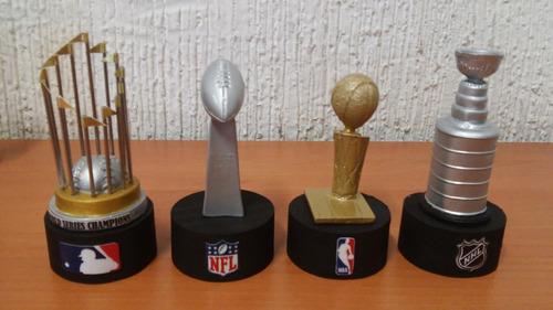 mini trofeos, champions, copa del mundo, vince lombardi, nba