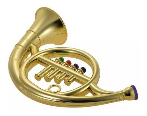 mini trompete infantil musical criança 4 botoes iniciantes
