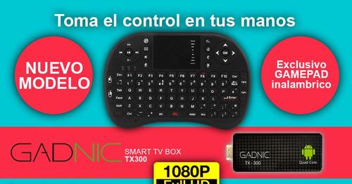 mini tv android tv box quadcore hdmi + teclado combo smart