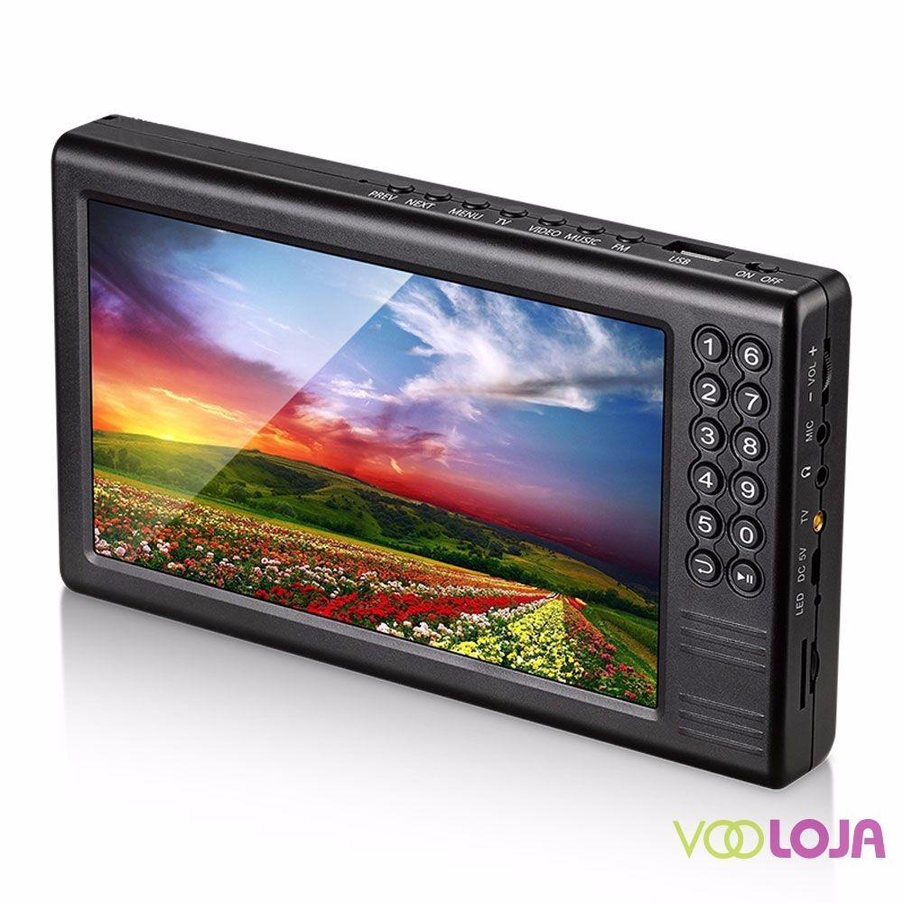 Mini Tv Digital Portátil 7 Isdb-t Portatil Mtv-70 - R$ 378 ...