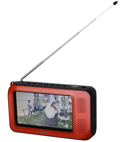 mini tv digital portátil hd tela 4.3 polegada usb fm monitor