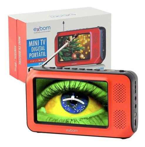 mini tv digital portátil hd tela 4.3 usb sd rádio fm monitor