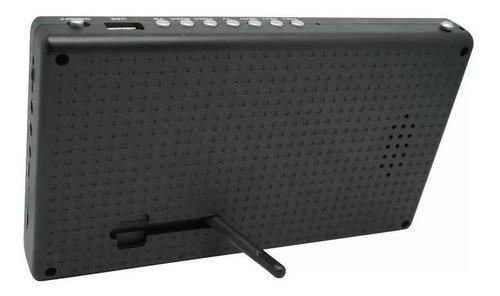 mini tv digital portátil hd tela 7.0 usb rádio fm monitor+nf