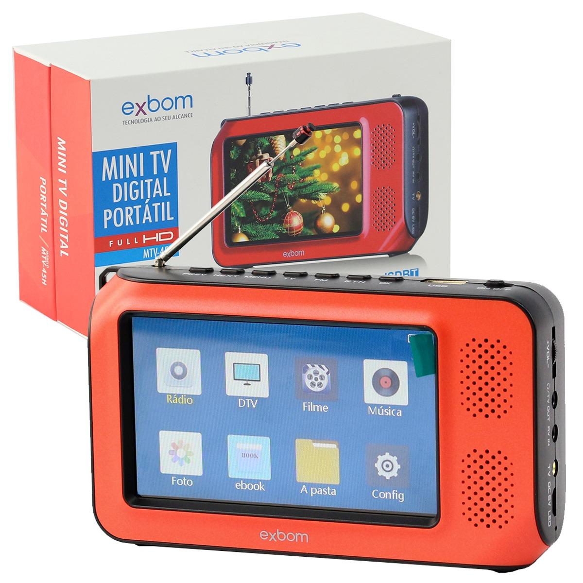 Mini Tv Digital Portatil Videos Fotos Filmes Radio Fm Tf ...