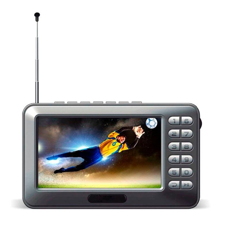 Mini Tv Portatil Digital C/ Rádio Fm E Entrada P/ Cartão ...