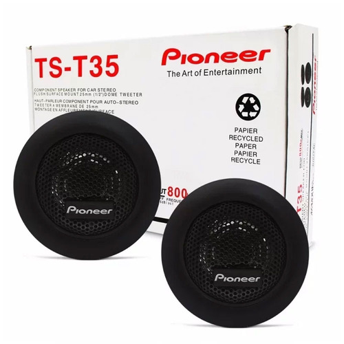 mini tweeter pioneer 70w rms p/ player e módulo 1 a 4 canais