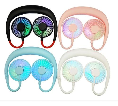 mini usb ventilador portátil para cuello con led y perfume
