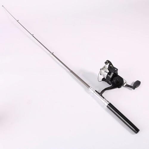 mini vara caneta de pesca com molinete + linha top azul escu