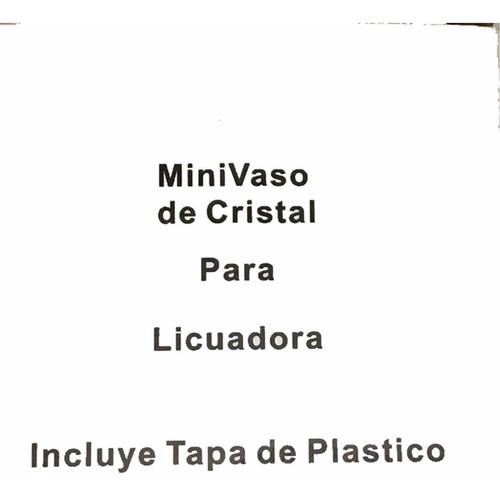 mini vaso / compotero con tapa para licuadora  8 oz cristal