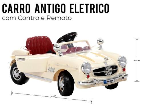 mini veículo carro antigo retrô 2x1 controle remoto bel 9145