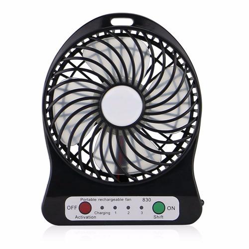 mini ventilador 3 velocidades linterna portátil recargable