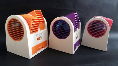 mini ventilador aire acondicionado 2 salidas usb portatil
