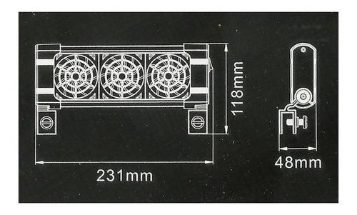 mini ventilador boyu fs-603 triplo bivolt resfria o aquário