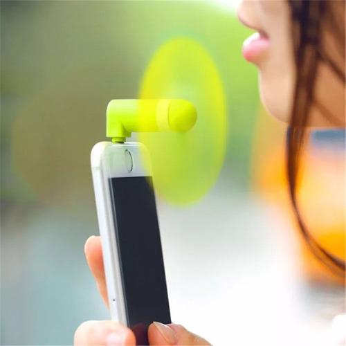 mini ventilador iphone 5 5s 6 6s acessório pequeno celular