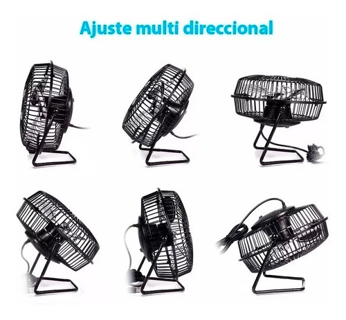 mini ventilador metalico usb turbo apto 220v super calidad
