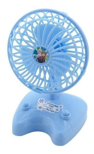 mini ventilador portatil a pilha infantil menina anna e elsa