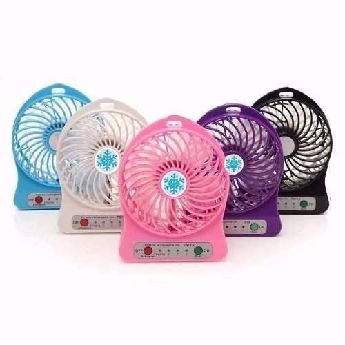 mini ventilador portátil recarregável diversas cores
