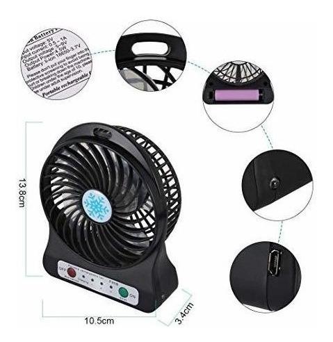 mini ventilador recargable con cable usb