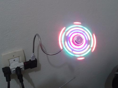 mini ventilador usb ao ligar aparece luzes coloridas