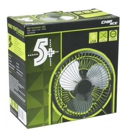 mini ventilador usb - cabo 1.2m preto 015-0026