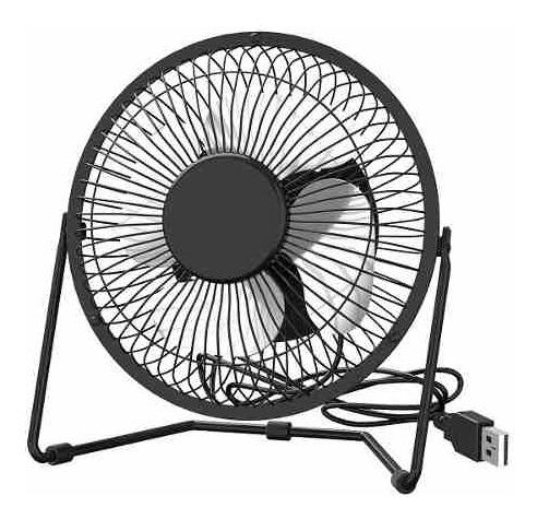 mini ventilador usb mesa em metal 20cm articulavel completo
