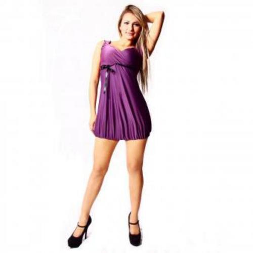 mini-vestido con recogido sarab cie004-ur