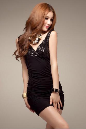 mini vestido dama tirantes noche sexy elegante moda corto