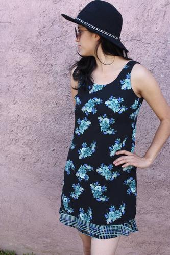 mini vestido de chiffon talla xs  marca cdc