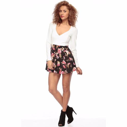 mini vestido estampado floral