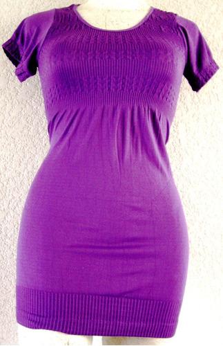 mini vestido licra bluson stretch tallas extras