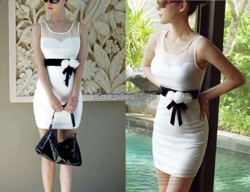 7c6b0fed44 Mini Vestido Mujeres Sexy Vestido Blanco Sin Mangas Noche Fi - S  50 ...