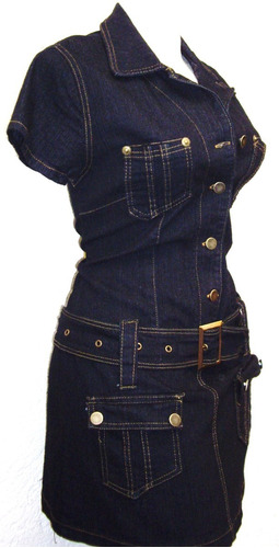 mini vestido popelina mezclilla tallas extras 36 a 48