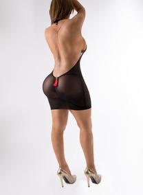 Vestidos muy cortos y transparentes