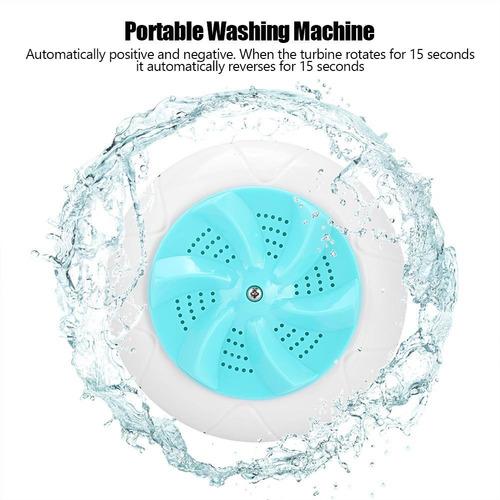 mini viaje portátil hogar pequeña lavadora ultrasonido turbo